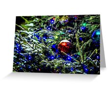 Christmas Tree Decorated Greeting Card