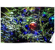 Christmas Tree Decorated Poster