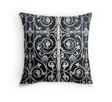 grating with floral patterns Throw Pillow