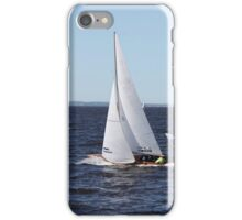 Sailing yacht in motion iPhone Case/Skin