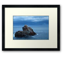 seascape  rock in the sea Framed Print