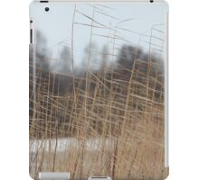 reeds cold winter wind iPad Case/Skin