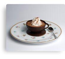 Chocolate cup & Saucer  Canvas Print