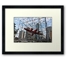 Art & About, Sydney, Australia 2012 - Trapped Aircraft Framed Print