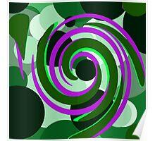 Circle Swirl Poster