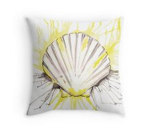 Splash Scallop Shell Throw Pillow