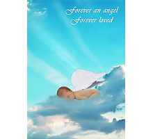 Forever an Angel Sympathy Card Photographic Print
