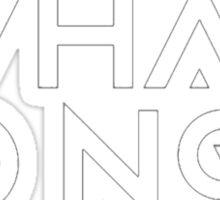 What so not - logo white Sticker