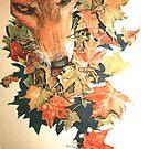 autumn fox by verlynia