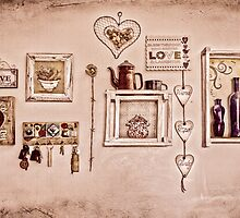 Love spread all over my kitchen wall...  by Qnita