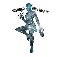 Mass Effect Silhouettes, Liara - Burn Thessia? Make a Mess o' Ya! Photographic Print