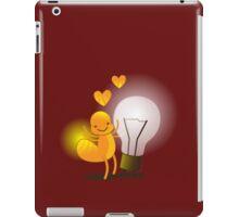 A cute little idea! Glow worm with light bulb iPad Case/Skin