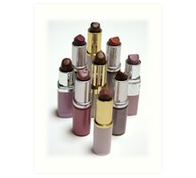 lipsticks on parade Art Print
