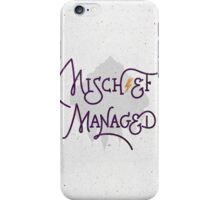 "Harry Potter ""Mischief Managed"" iPhone Case/Skin"
