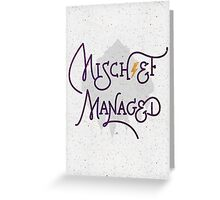 """Harry Potter """"Mischief Managed"""" Greeting Card"""