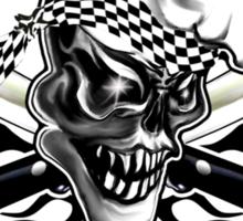 Chef Skull 5: Culinary Genius 3 black flames Sticker