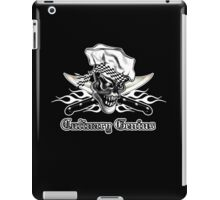 Chef Skull 5: Culinary Genius 3 white flames iPad Case/Skin