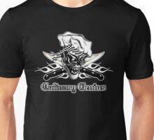 Chef Skull 5: Culinary Genius 3 white flames Unisex T-Shirt