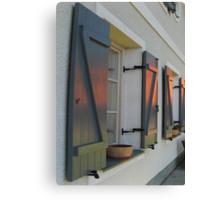SUNSET HOUSE WINDOWS Canvas Print