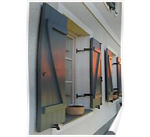 SUNSET HOUSE WINDOWS Poster