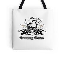 Chef Skull 6: Culinary Genius 3 black flames Tote Bag