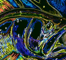 Abstract Snook Sticker