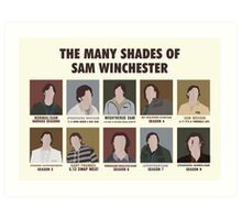 The Many Shades of Sam Winchester Art Print