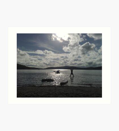 Lake of Happy-ness Art Print