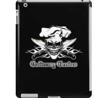 Chef Skull 6: Culinary Genius 3 white flames iPad Case/Skin