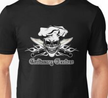 Chef Skull 6: Culinary Genius 3 white flames Unisex T-Shirt