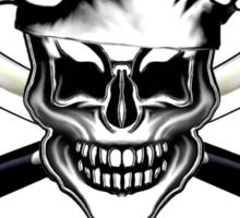 Chef Skull 6: Culinary Genius 3 white flames Sticker