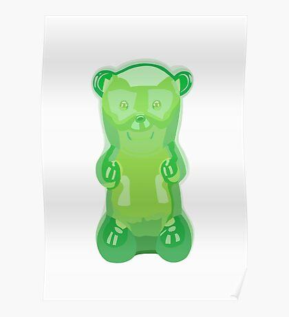 Gummy bear green grape flavor Poster