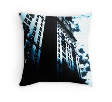 Blue Twins Throw Pillow
