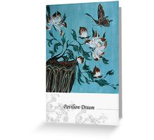 Peony and Butterfly Greeting Card