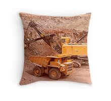digging Throw Pillow