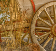 """Little antique wagon on display at the """"Vroue Monument"""" in Bloemfontein, South Africa Sticker"""