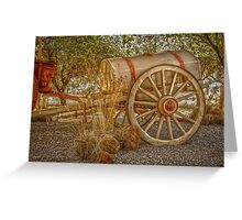 """Little antique wagon on display at the """"Vroue Monument"""" in Bloemfontein, South Africa Greeting Card"""