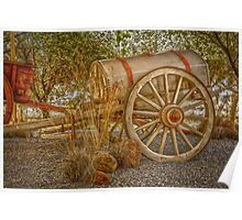"Little antique wagon on display at the ""Vroue Monument"" in Bloemfontein, South Africa Poster"