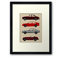 The Car's The Star: UK Detectives Framed Print