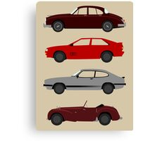 The Car's The Star: UK Detectives Canvas Print