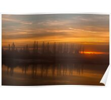 Sunset Crouch Estuary Poster