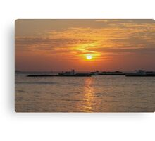 Sunset Furanafushi Island Canvas Print