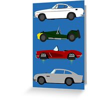 The Car's The Star: Spies Greeting Card
