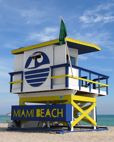"""Miami Beach Life Guard Stand"" by David Lee Thompson"