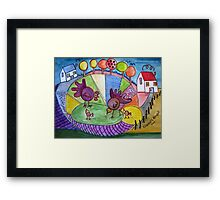 To be a child again. (inspired by Boris Posavec) Framed Print