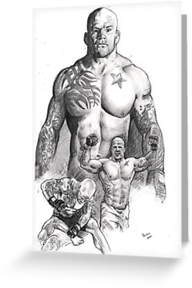 Jeff Monson - the snowman by Alleycatsgarden