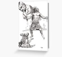 Chuck Lidell - the Icemen Greeting Card