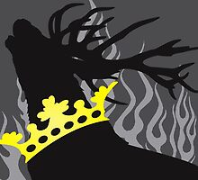 Game of Thrones Baratheon Silver Crowned Stag by DragonroseWorks