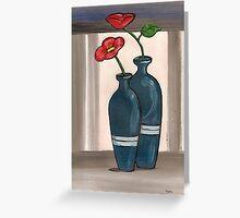 blue vases Greeting Card