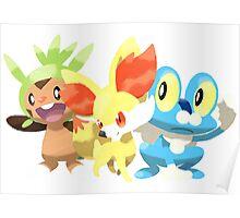 Pokemon X&Y starters  Poster